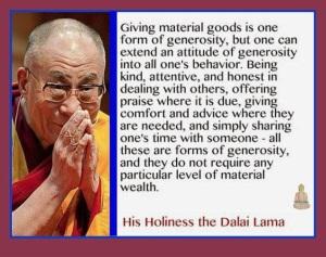 Generosity Dalai lama