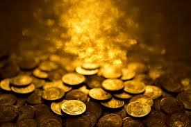 luminous gold coins